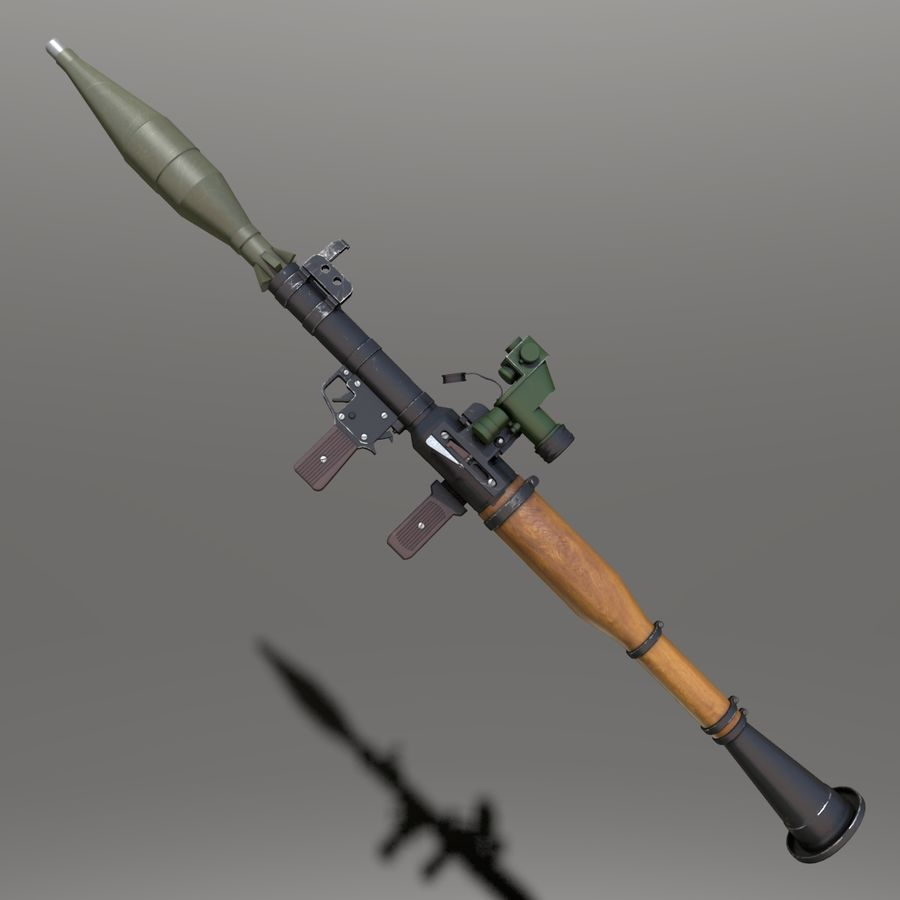 RPG7 royalty-free 3d model - Preview no. 1