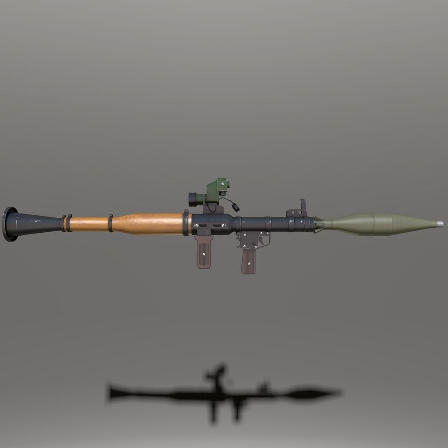 RPG7 royalty-free 3d model - Preview no. 5