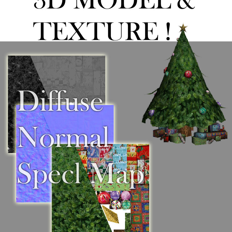 圣诞节树 royalty-free 3d model - Preview no. 1