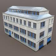 Lägenhetshus # 93 Låg poly 3d-modell 3d model