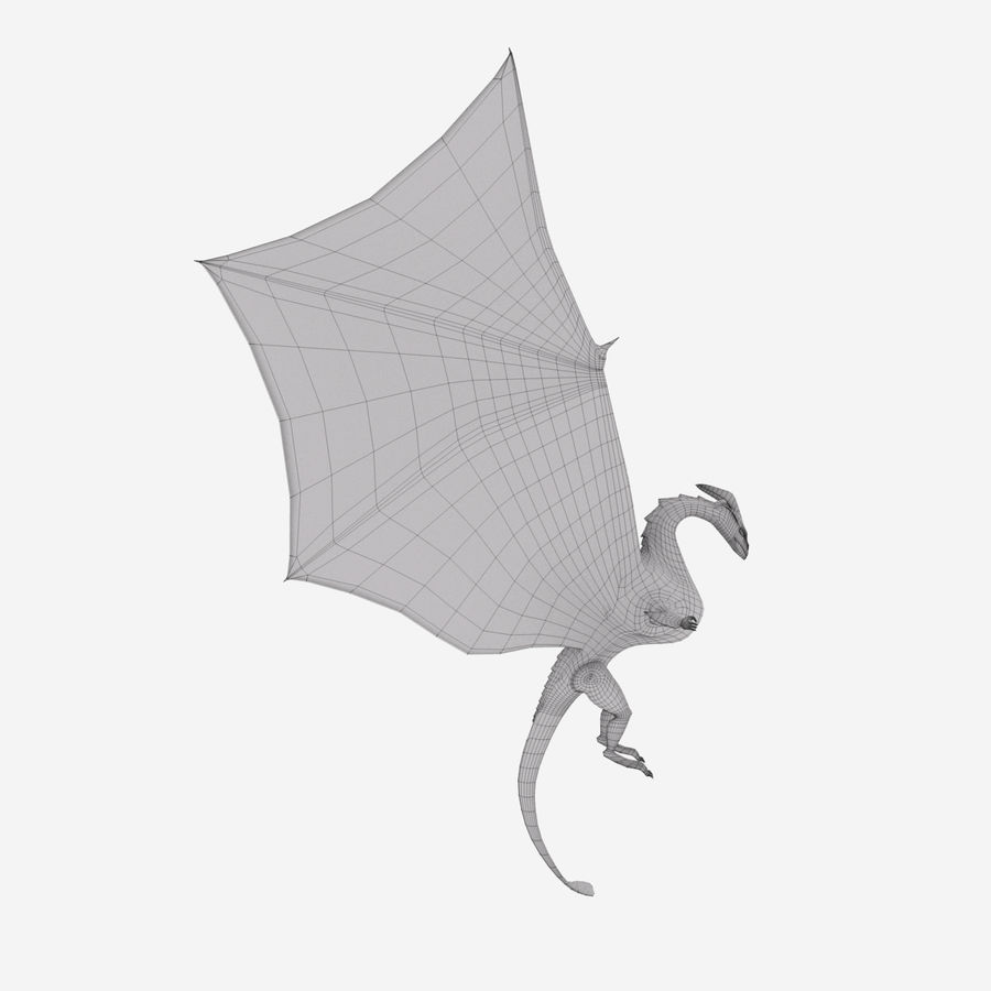 Dragon royalty-free 3d model - Preview no. 12
