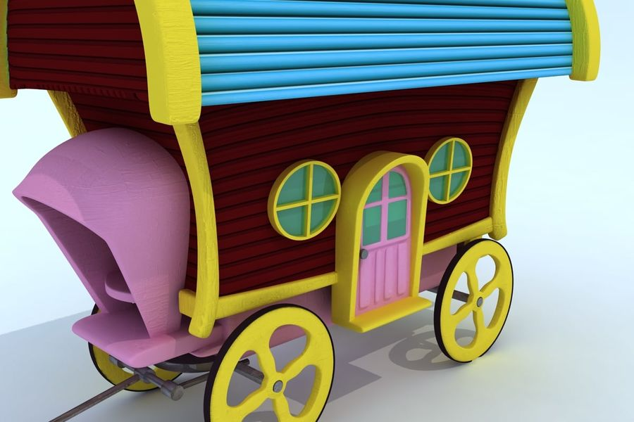 CarRiages royalty-free 3d model - Preview no. 3