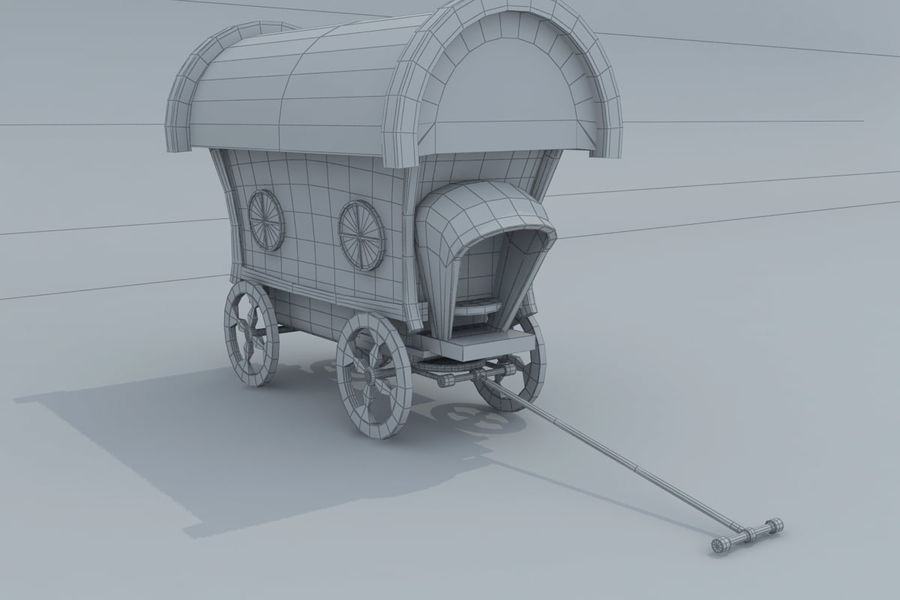 CarRiages royalty-free 3d model - Preview no. 6