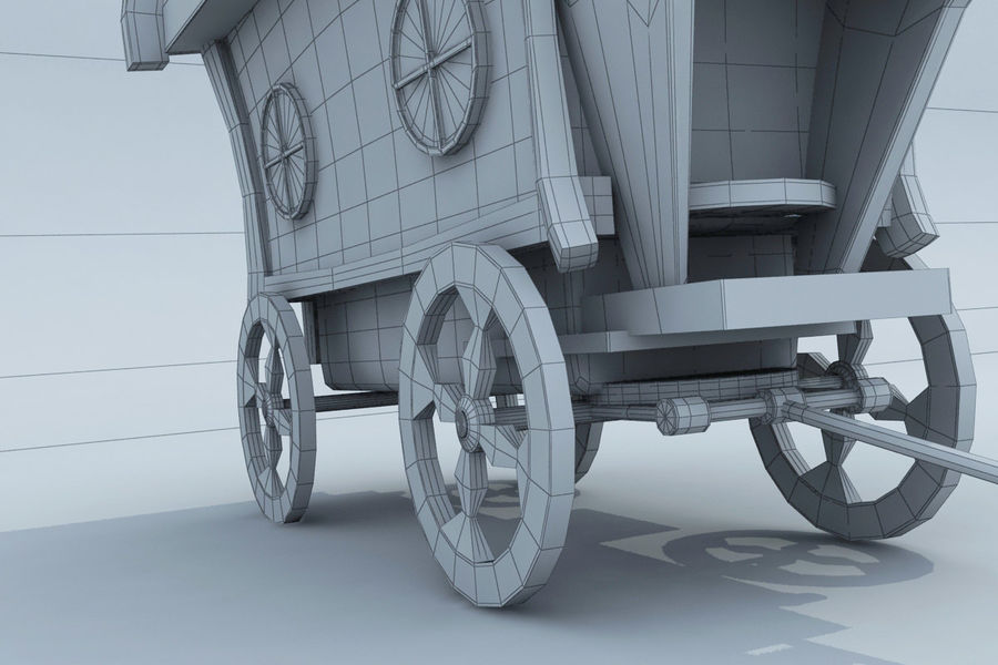 CarRiages royalty-free 3d model - Preview no. 9