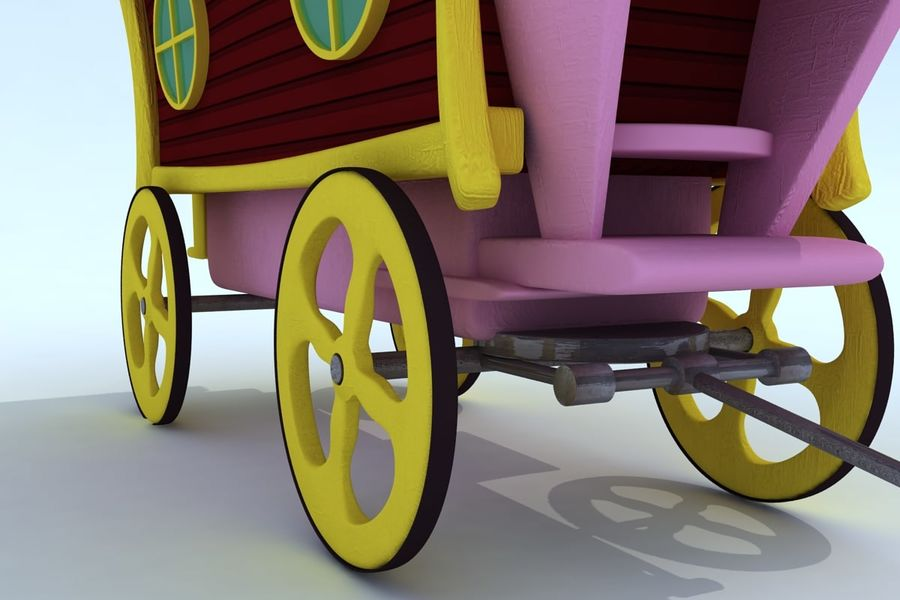 CarRiages royalty-free 3d model - Preview no. 5