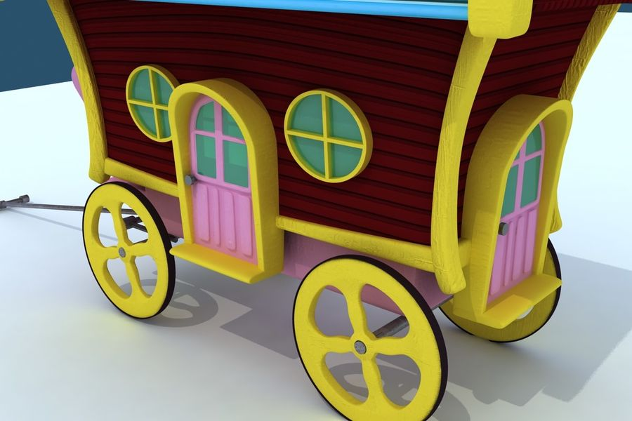 CarRiages royalty-free 3d model - Preview no. 4