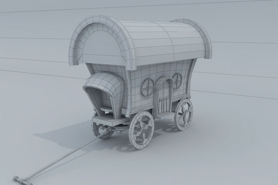 CarRiages royalty-free 3d model - Preview no. 7