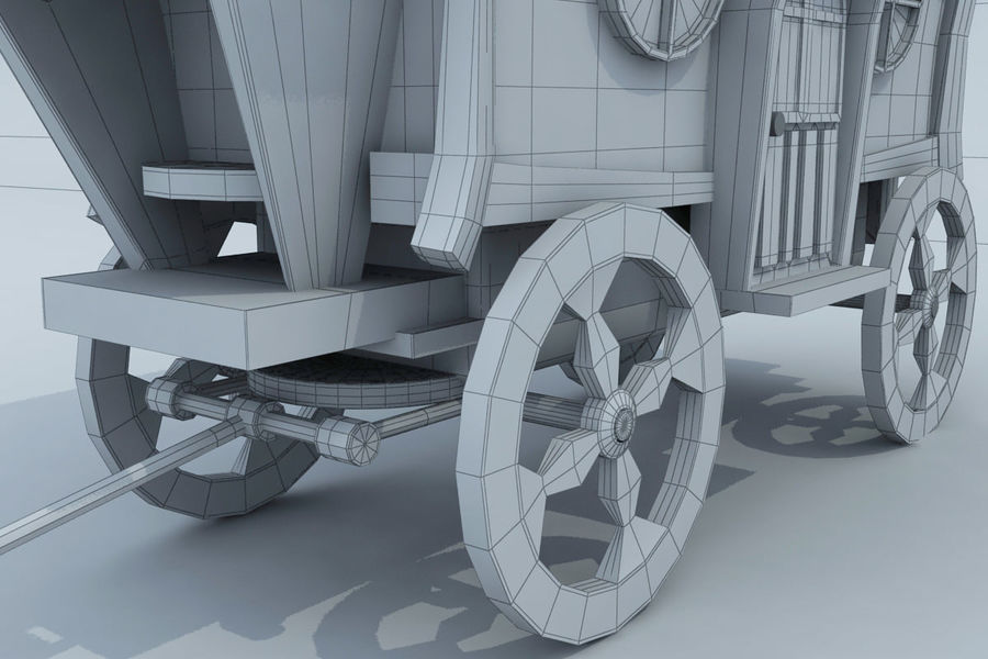 CarRiages royalty-free 3d model - Preview no. 8