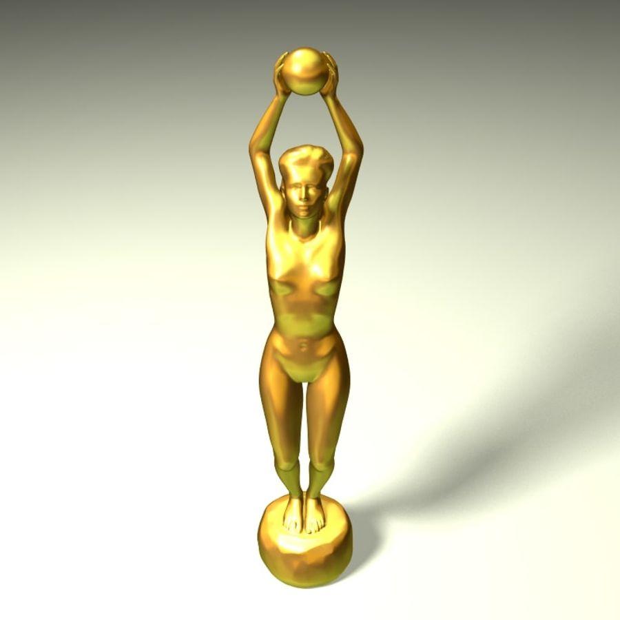 Rzeźba kobiecego ciała royalty-free 3d model - Preview no. 4