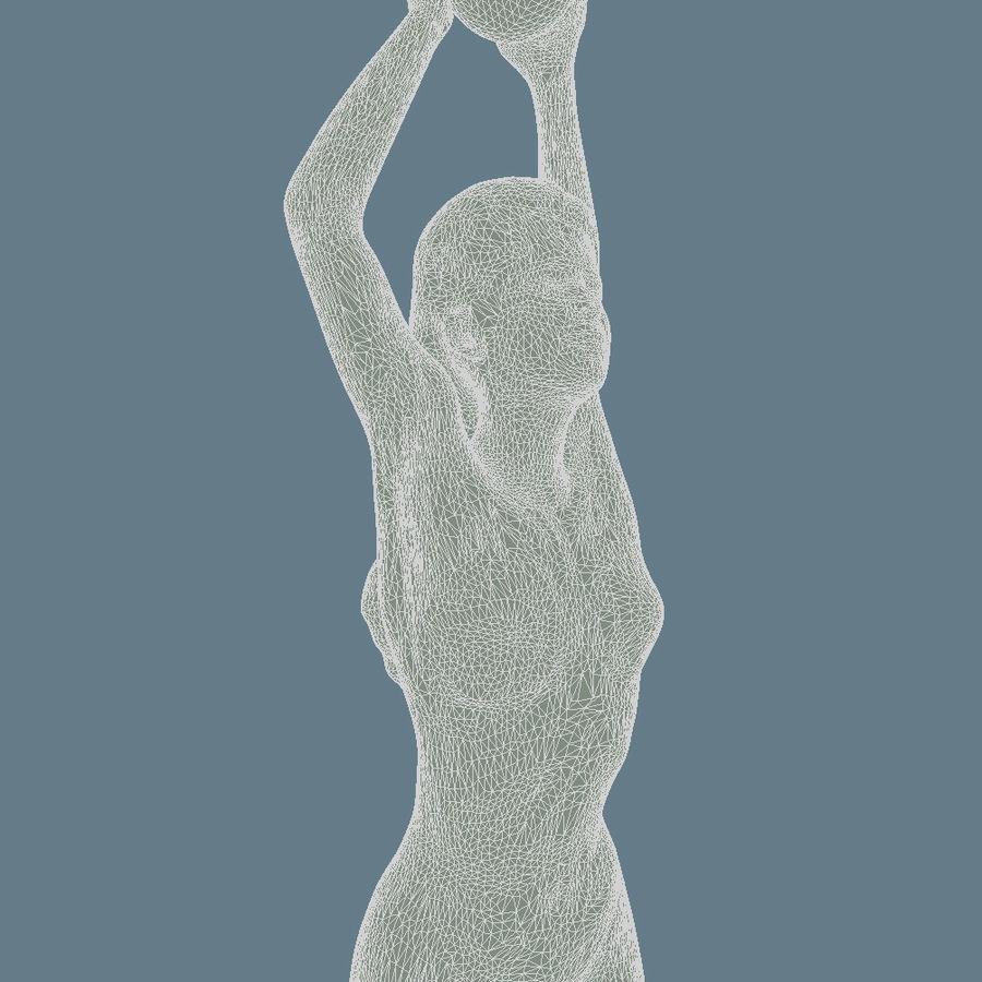 Rzeźba kobiecego ciała royalty-free 3d model - Preview no. 7