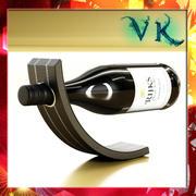 Wine Rack 4 and Wine Bottle 3d model