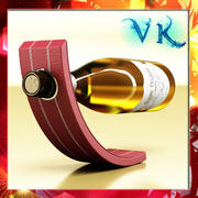 Wine Rack 5 and Wine Bottle 3d model