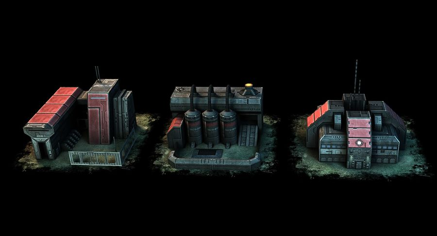 RTS building pack royalty-free 3d model - Preview no. 7