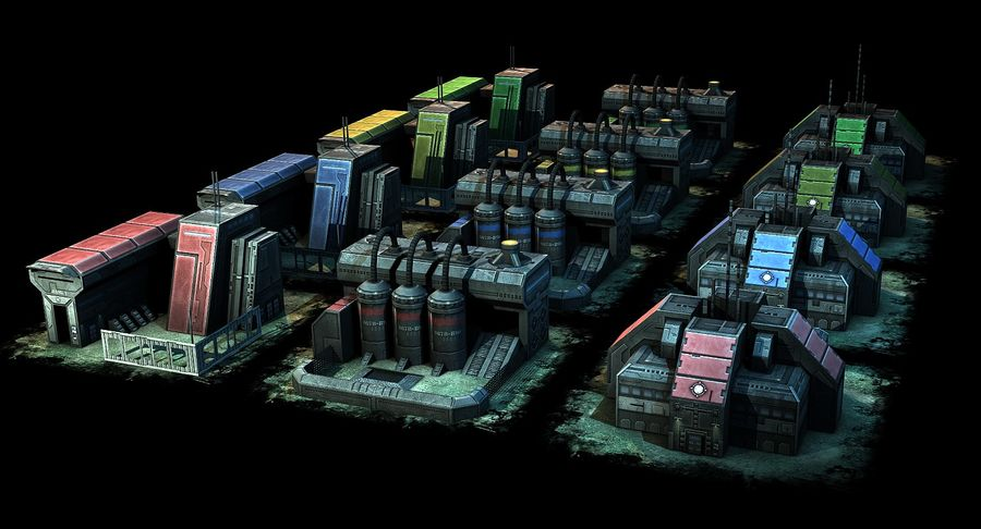 RTS building pack royalty-free 3d model - Preview no. 8