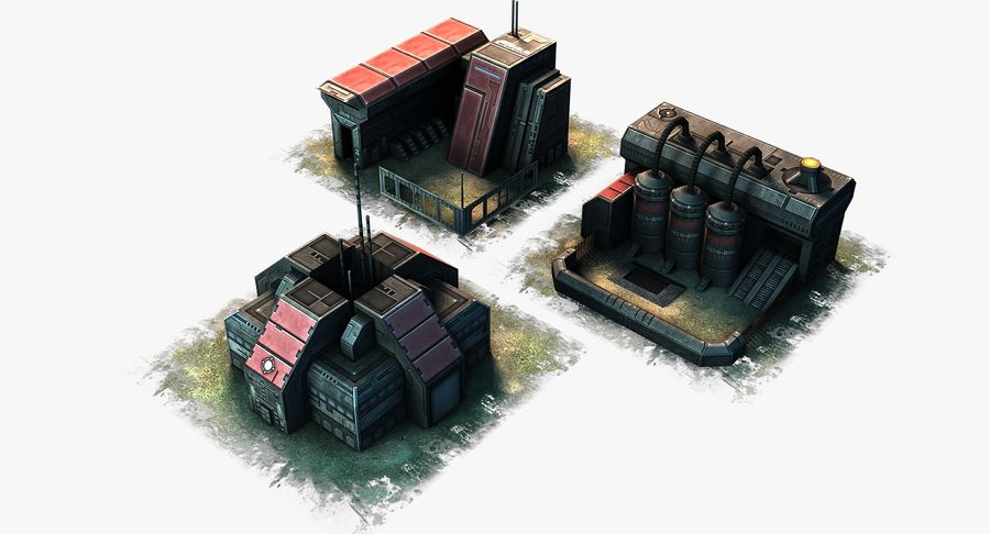 RTS building pack royalty-free 3d model - Preview no. 2