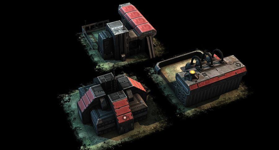 RTS building pack royalty-free 3d model - Preview no. 4
