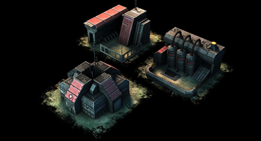RTS building pack royalty-free 3d model - Preview no. 3