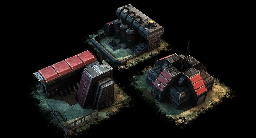 RTS building pack royalty-free 3d model - Preview no. 6