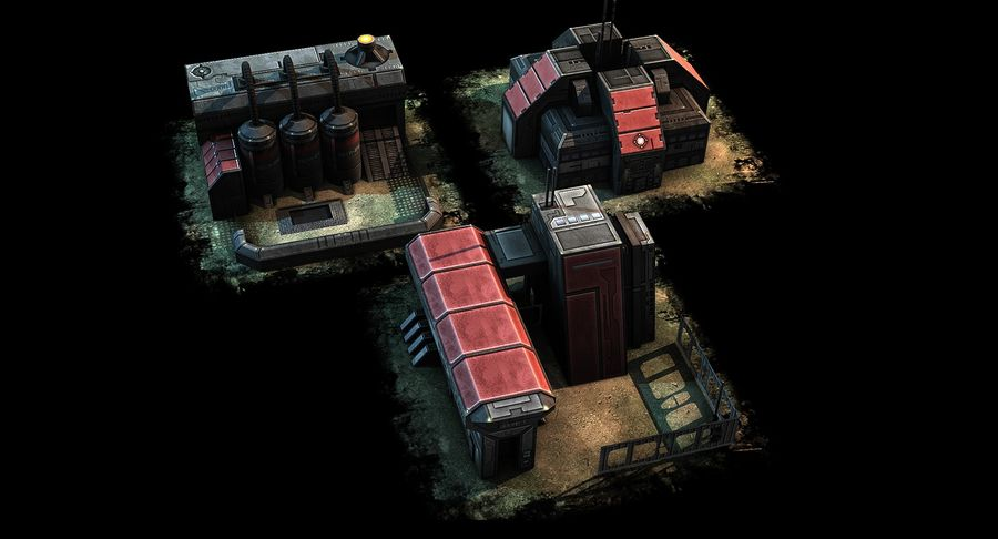 RTS building pack royalty-free 3d model - Preview no. 5