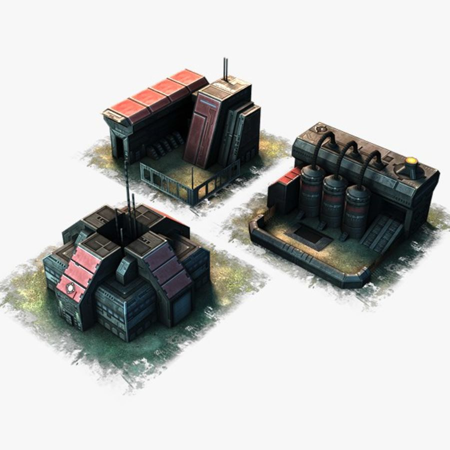 RTS building pack royalty-free 3d model - Preview no. 1