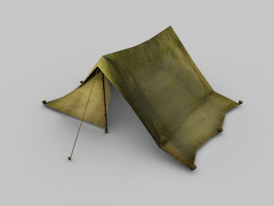 Low poly tent royalty-free 3d model - Preview no. 2