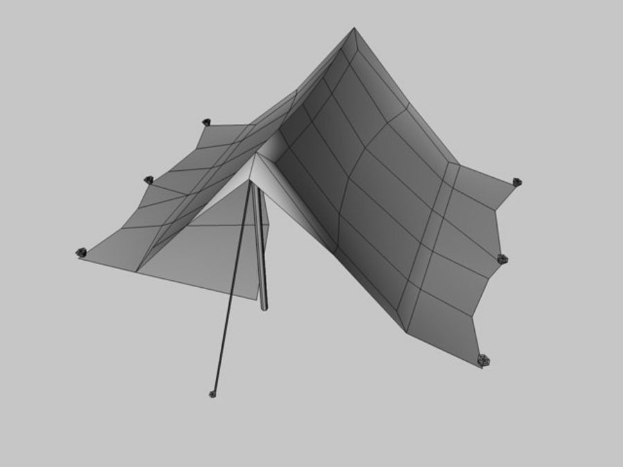 Low poly tent royalty-free 3d model - Preview no. 6