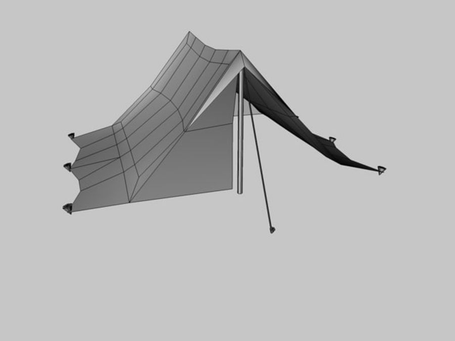 Low poly tent royalty-free 3d model - Preview no. 5