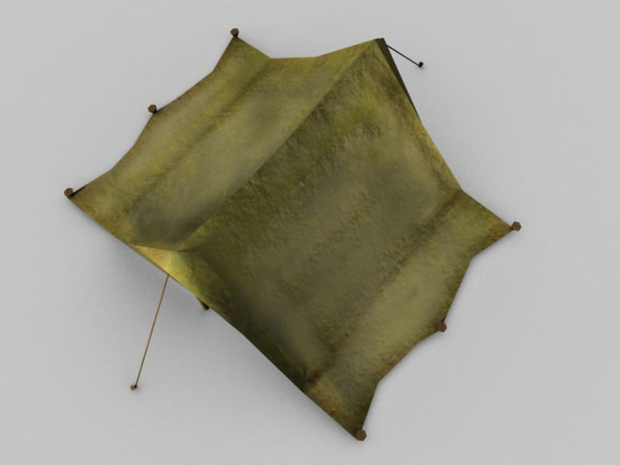 Low poly tent royalty-free 3d model - Preview no. 3