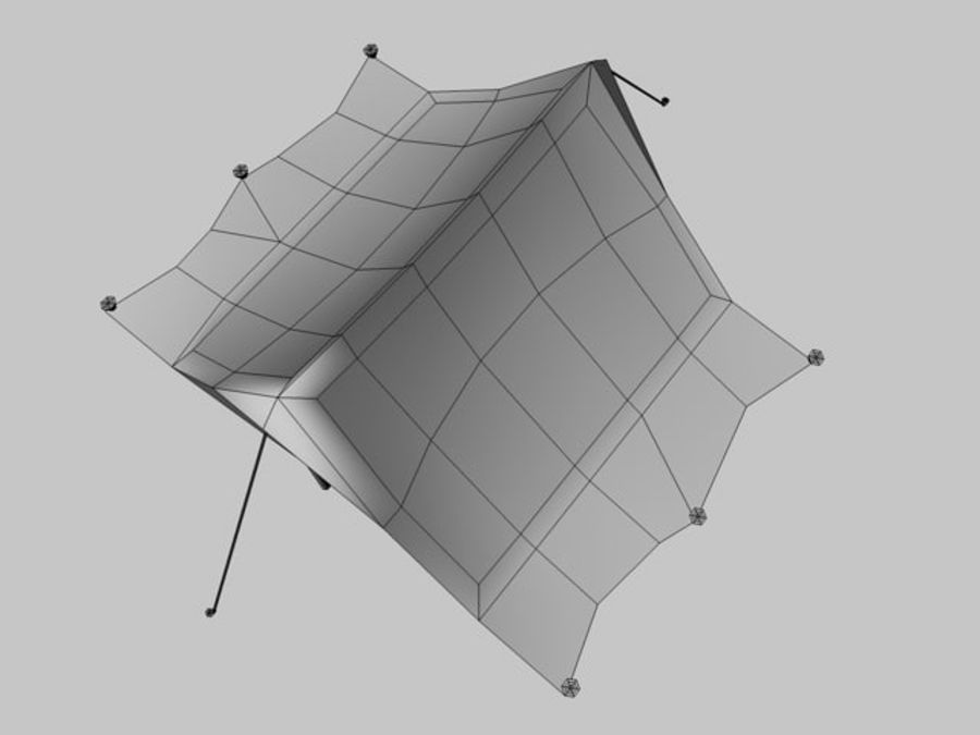 Low poly tent royalty-free 3d model - Preview no. 4