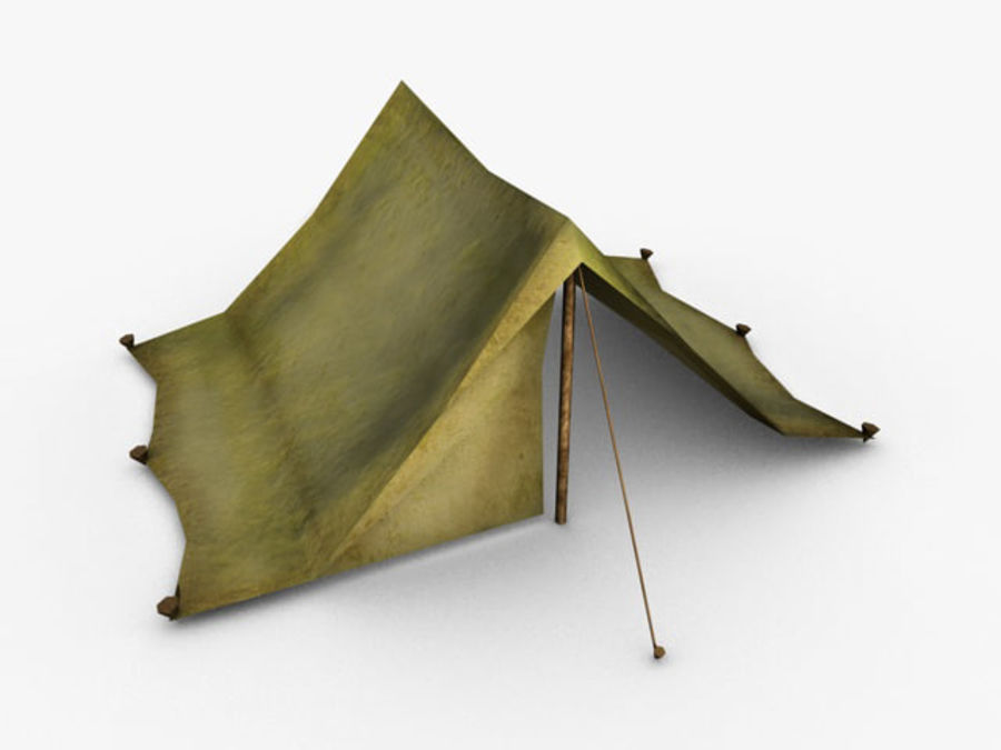 Low poly tent royalty-free 3d model - Preview no. 1