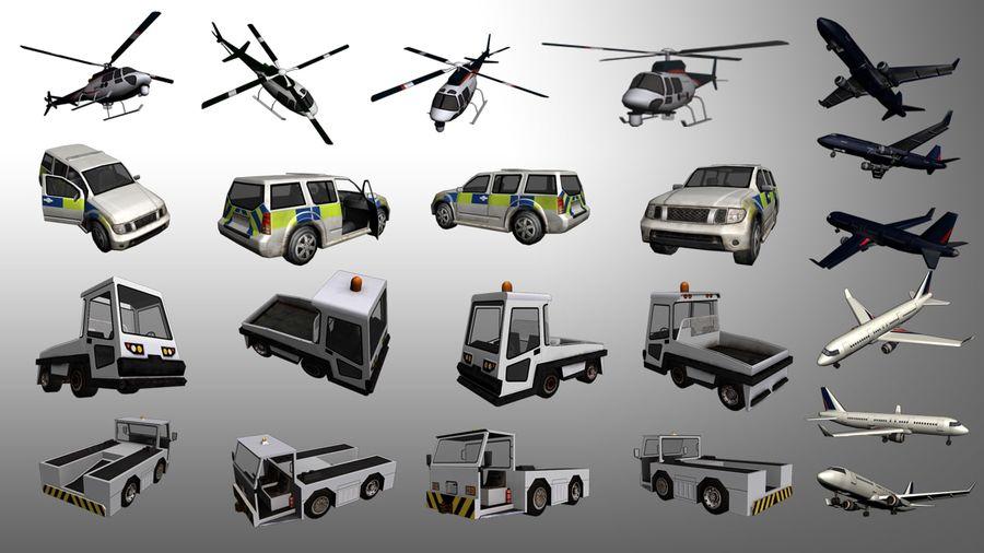 飞机和汽车 royalty-free 3d model - Preview no. 1