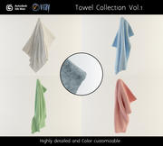 Сбор полотенец, том 1 3d model