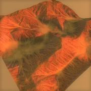 lowpoly Mars Terrain 3d model