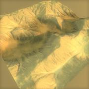 lowpoly Desert Terrain 3d model