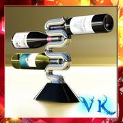 Wine Rack 3 and bottles 3d model