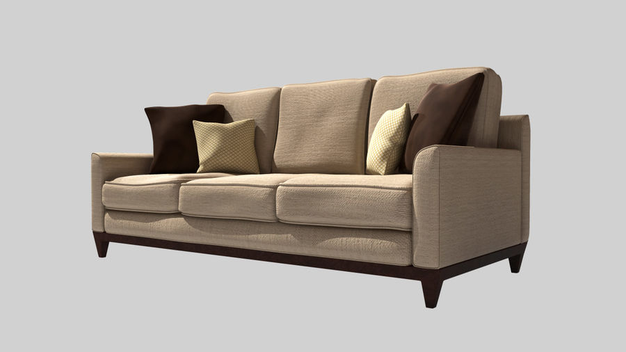 Living Room Couch royalty-free 3d model - Preview no. 1