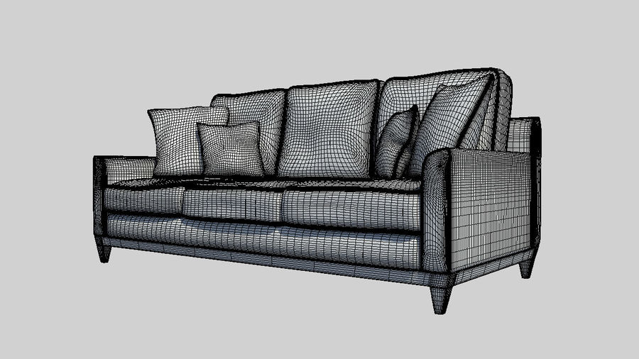 Living Room Couch royalty-free 3d model - Preview no. 2