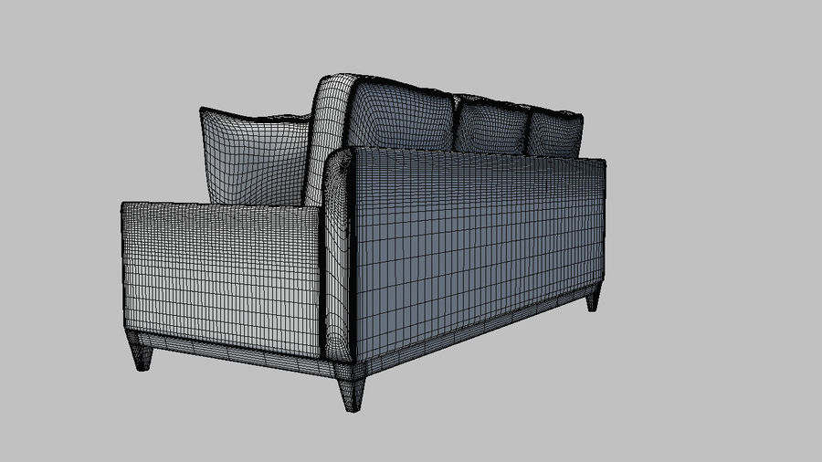 Living Room Couch royalty-free 3d model - Preview no. 6