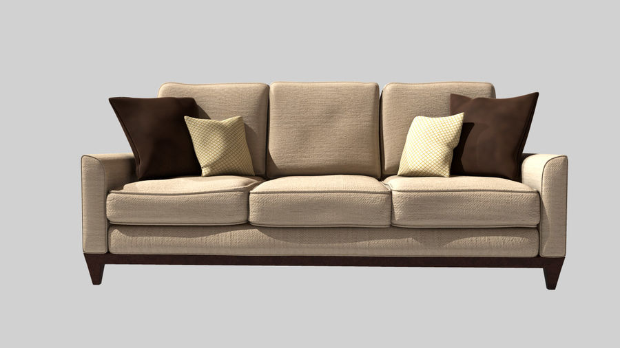 Living Room Couch royalty-free 3d model - Preview no. 3
