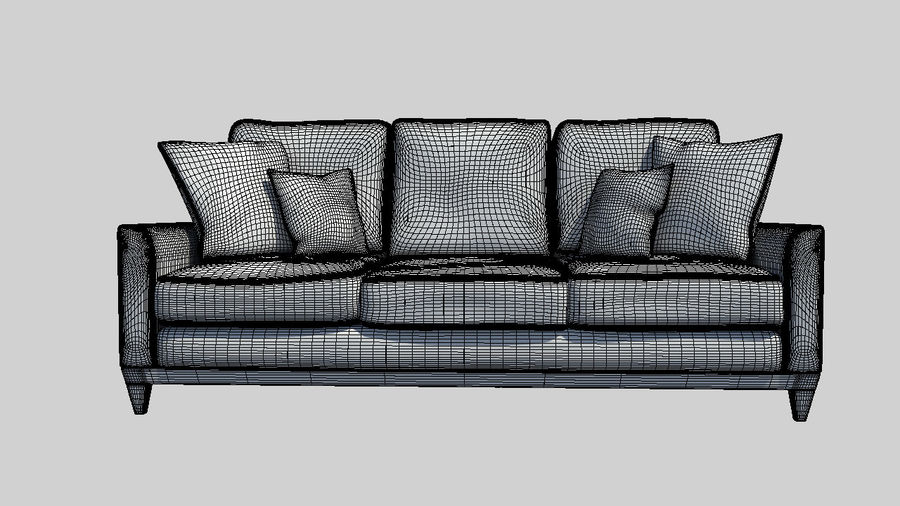 Living Room Couch royalty-free 3d model - Preview no. 4