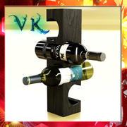 Wine rack 6 and 2 Wine Bottles 3d model