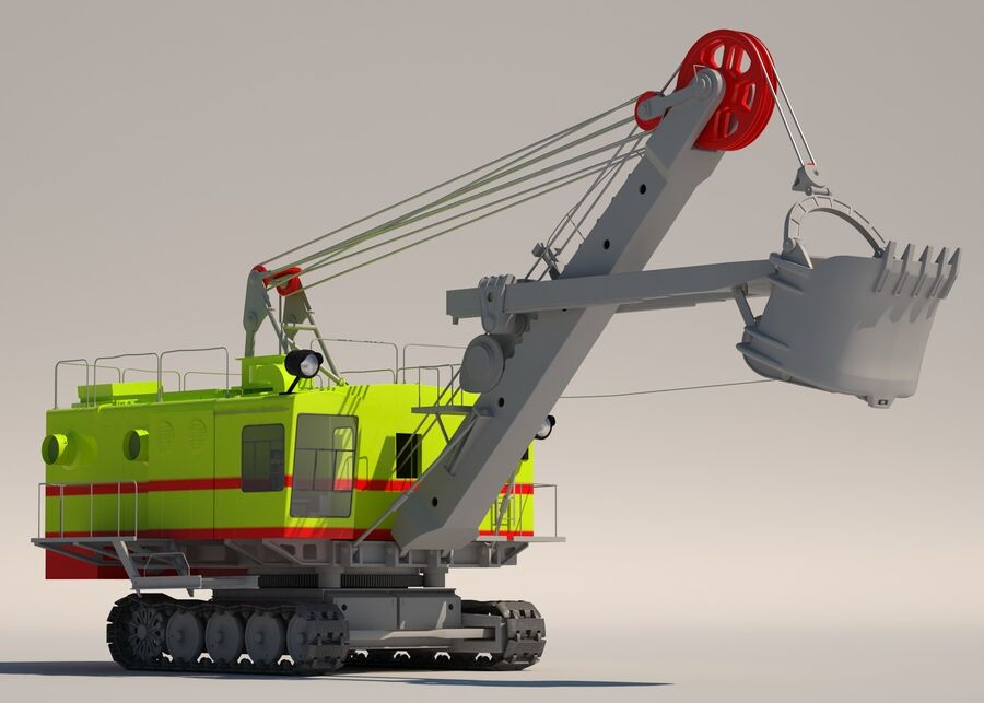 Bagger royalty-free 3d model - Preview no. 1