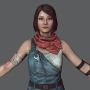 tamirci kız _ Zombi katili 3d model