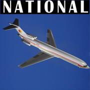 Krajowe linie lotnicze 727-200 3d model