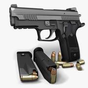 Sig Sauer P229ダークエリートII 9mm 3d model