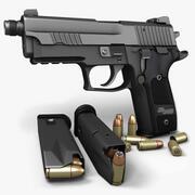 Sig Sauer P229ダークエリートTB 9mm 3d model