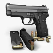 Sig Sauer P229 SAS 9mm 3d model