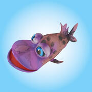 Ryba kreskówka 3d model