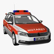 VW Passat 2012 Ambulance 3d model