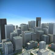 City Big Cityscape 3d model